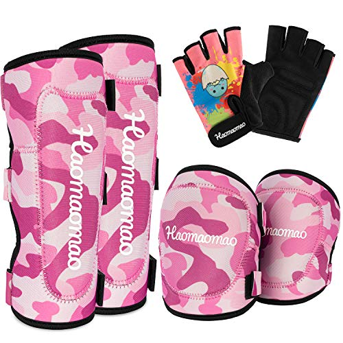 Haomaomao Kids Knee Pads Youth Knee Pads Elbow Pads Wrist Guards Protective Gear Set Roller Skates Cycling BMX Bike Skateboard Inline Scooter Riding Skatings unisexual Gift