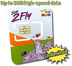 AIS Sim2Fly: Asia Data Roaming for 20 Countries Preloaded Data SIM Card 4GB / 8 Days Japan, Korea, Singapore, Malaysia, Hong Kong, Laos, India, Taiwan, Philippines, Cambodia, China, Nepal, Australia