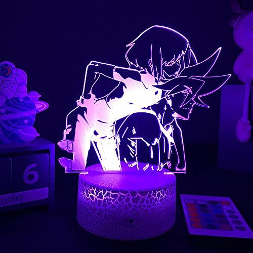 Lámpara De Ilusión 3D Luz De Noche LED a la efigie de los personajes de Galo y timo en anime decorativa de interior ideal para la habitación de un niño regalo de cumpleaños