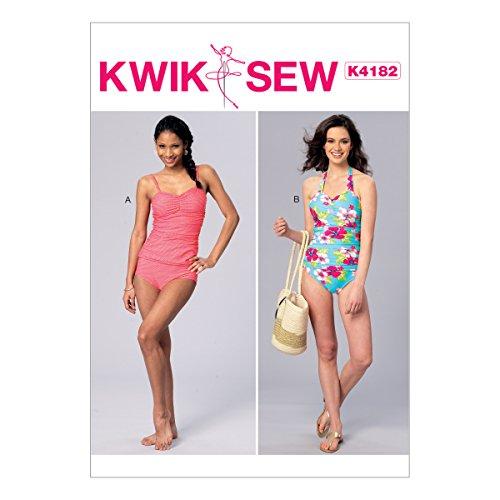 Kwik Sew Mustern k4182osz Schnittmuster Badeanzüge Schnittmuster, Tissue, mehrfarbig, XS–X-Large