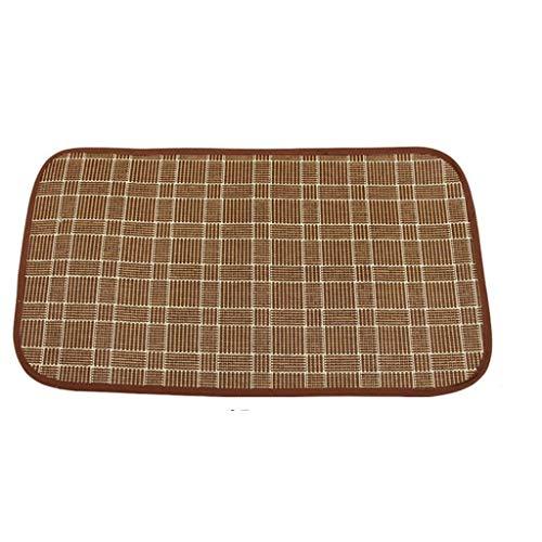 Sommer kinderschlafmatte regenschirm auto matte rattan matte esszimmerstuhl matte (Color : Brown)