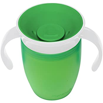 マンチキン(munchkin) ベビー用 マグ こぼれない ハンドル / ふた 付き コップ 6カ月から 上手に飲める 練習 ミラクルカップ 196ml グリーン FDMU10801