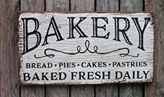 123RoyWarner Bakery Bread Pies Cakes Pastries Baked Fresh Daily Wood Sign Country Farmhouse
