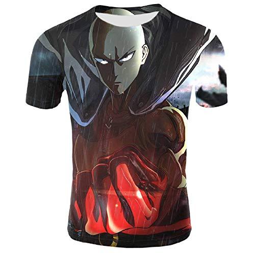 Htekgme Camiseta 3D Unisex Anime Superman Impreso Moda Cool Camiseta Cómoda Verano Casual Vacaciones Camisetas-T2_4XL