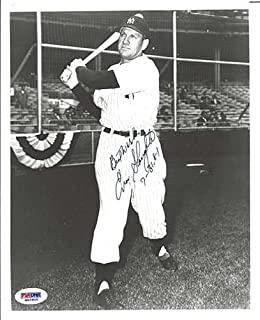 Enos Slaughter Signed BW 8x10 Photo NY Yankees - PSA/DNA Authentication - Autographed MLB Photos