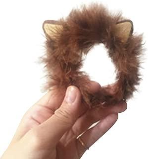 Pet Hero Lion Mane Hand Made Costume Guinea Pig Hedgehog Funny Hair with Ear for Halloween Christmas