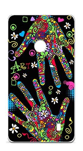 Onozo Cover TPU Gel Morbida Nokia Lumia 520Design Art