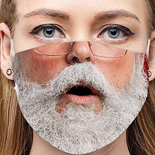 Christmas Face Masks for Adults, Snowman Santa Claus Boys Girls Multifunctional Cotton Mouth Mask Outdoor Party