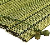 GLJJQMY Persiana enrollable cortina de bambú Sistema de elevación de persianas romanas chinas garantiza seguridad y facilidad de uso cortina de la cortina decoración de la sombra sala de estar en casa