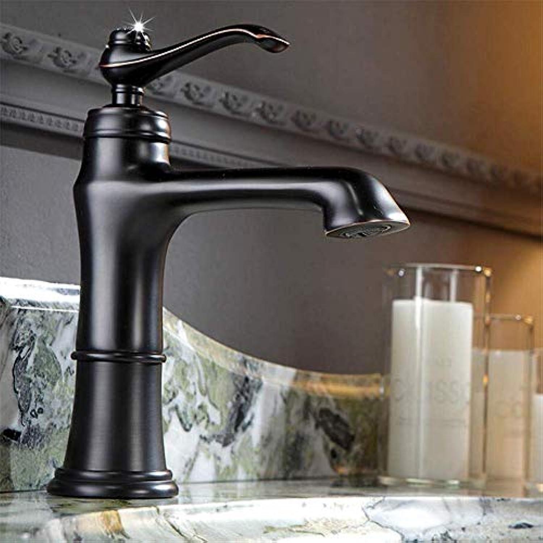 360 ° drehbarer Wasserhahn Retro Wasserhahn Mischbatterie All Copper schwarz Badezimmer unter Aufsatzbecken Wasserhahn