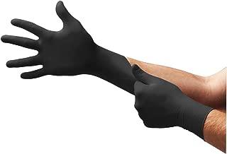Microflex MK-296-L Midknight Exam Gloves, PF Nitrile, Textured, Black, Large, 100 per Box, 10 Box per Case (Pack of 1000)