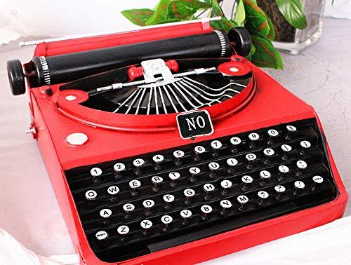 Máquina de escribir modelo, retro nostalgia ornamentos modelo de máquina de escribir antigua sala de café decoración de la barra suave viva de los artes máquina de escribir rojo 31 * 30 * 15