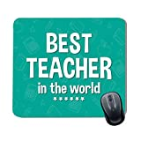 Family Shoping Teachers Day Gifts Best Teacher in The World Printed Mousepad for Computer System Pc Accessories Teachers Day Special