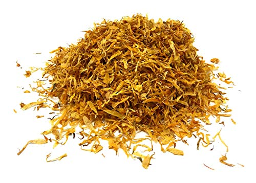 Calendula Petals – Pure Dried Marigold Flower Petals – Vegan | Gluten Free | Non-GMO | No Sugar Added - Net Weight: 0.35oz / 10g - Calendula Officinalis