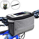 MATTISAM Bike Handlebar Bag, Bike Basket with | Mesh Pocket -...