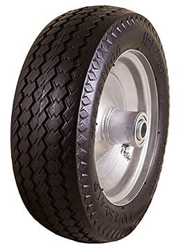 Marathon 4.10/3.50-4  Flat Free Hand Truck / All-Purpose Utility Tire on Wheel 2.25  Offset Hub 3/4  Bearings