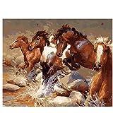 Wawjmr Diy pintura al óleo Cuadro enmarcado Pintura al óleo de bricolaje por...