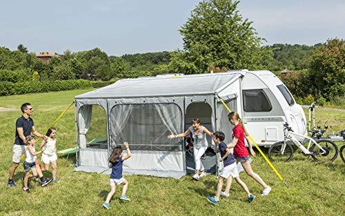 Fiamma Caravanstore Zip XL 440cm Royal Grey Sonnenschutz Markise Vorzelt Stauraum Reisemobil Zelt