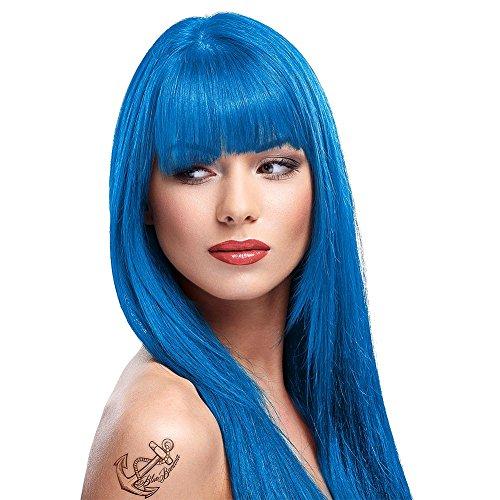 La Riche Directions Semi-Permanente Haarfarbe 88ml (Lagoon Blue) + KOSTENLOSES Blue Banana Sugar Skull Täschchen