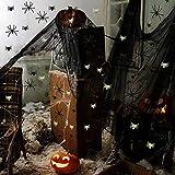 fookduoduo Halloween Deko Spinnennetz, Gruselig Deko Stoff