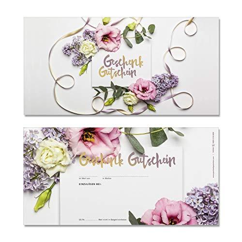 50 hochwertige Gutscheinkarten Geschenkgutscheine DIN-lang. Gutscheine für Mode Damenmode Modeboutique Boutique. Vorderseite hochglänzend. FA9265