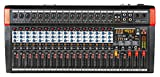 Audio2000'S AMX7375 16-Channel Audio Mixer with 320 DSP Sound Effects, Stereo Sub Out with Sub-Out Level-Control Fader,...
