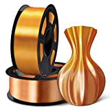➽【1.75mm Vacuum Pack Shiny Silk PLA + Filament】 2kg spool 1.75mm filament PLA in vacuum packing. 100% Enviromental Material, made of corn straw, the silk pla is degradable, also a universal 3D printer filament, compatible with most of the printers in...