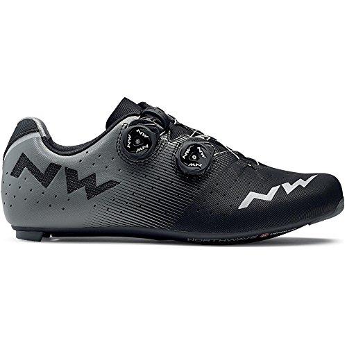 Zapatos de bicicleta de carretera NORTHWAVE Revolution Road negro / antracita, Tamaño:gr. 48