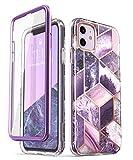 i-Blason iPhone 11 Hülle Glitzer Handyhülle 360 Grad Hülle Bling Schutzhülle Bumper Cover [Cosmo] mit integriertem Bildschirmschutz 6.1 Zoll 2019 Ausgabe (Lila)