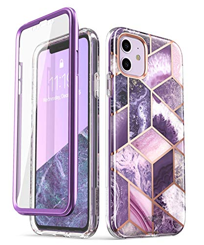 i-Blason Cosmo Series Case for iPhone 11 (2019 Release), Slim Full-Body Stylish Protective Case with Screen Protector, 6.1 inch (Ameth)