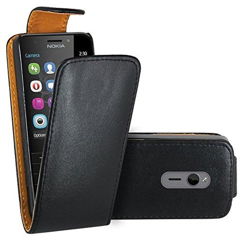 Nokia 230 Hülle, FoneExpert® Hülle Case Cover Hüllen Etui Ledertasche Premium Lederhülle Schutzhülle für Nokia 230