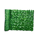 Sanfiyya La detección Artificial Paneles seto de Hiedra Hoja en Rollo de privacidad Cerca del jardín, Verde Faux Enrejado Balcón detección de privacidad de Cobertura Cerca de la Pared del jardín