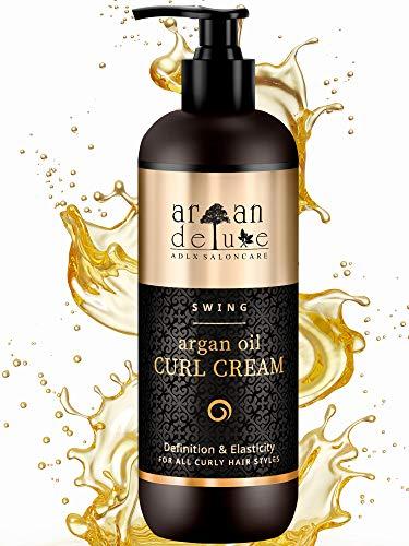Argan Deluxe Crema Definizione Ricci in Qualità Professionale 300 ml - 25% DI CONTENUTO IN PIÙ – Trattamento con Olio di Argan per Lucentezza, Idratazione ed...