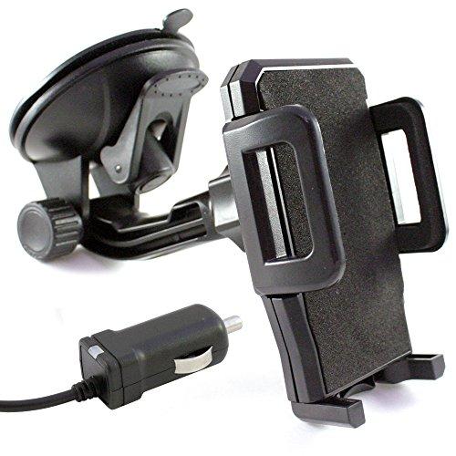 """KFZ Handyhalterung Auto Saugnapf Scheibe Handy Halterung Halter +\""""USB-C\"""" Ladekabel Ladegerät incl Kabel zB kompatibel mit Samsung S10(+Plus)S10e S9 S8/A90 A80 A71 A70 A60 A51 A50 A40 A30 A20/M40 M30"""
