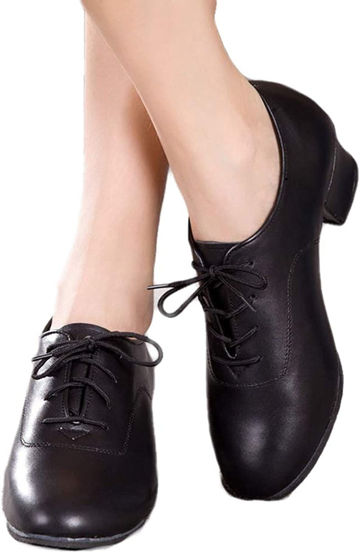 Kyle Walsh Pa Women Black Lace Up Modern Ballroom Tango Dance Dancing shoes Female Girl Ladies Dance Practice Low Heels
