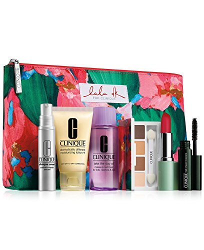 NEW 2015 Clinique 7 Pcs Makeup Skincare Gift Set with Smart Custom-Repair Serum & More! ($70+ Value)