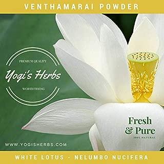 YOGIS HERBS Venthamarai Powder (White Lotus Powder) – Nelumbo Nucifera – 1 lb Fresh & Pure