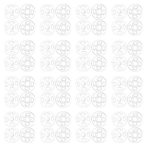 EXCEART 2 Bolsas de Plástico de Cierre a Presión Botones de Presión Transparente Botones de Costura Invisible Botones a Presión para Camisas Artesanías de Ropa