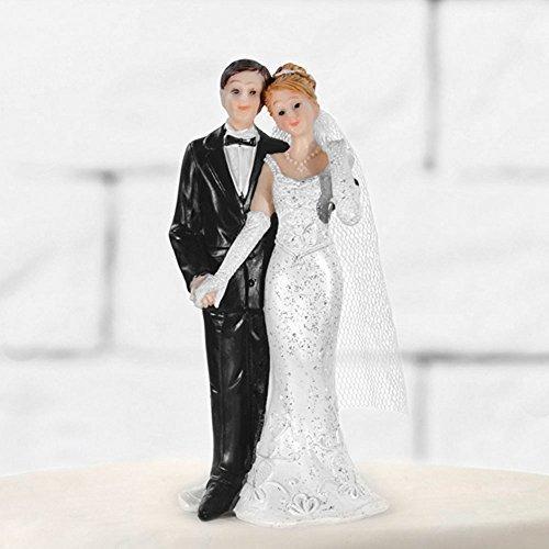 Tortenfigur Hochzeit Brautpaar Tortenaufsatz Tortendeko Hochzeitspaar für Torte von Haus der Herzen ®