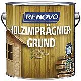 4 Liter RENOVO Holzimprägniergrund Farblos für außen, wb