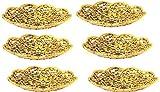 MM Plastic Flower Design Decorative Bowl (Gold)