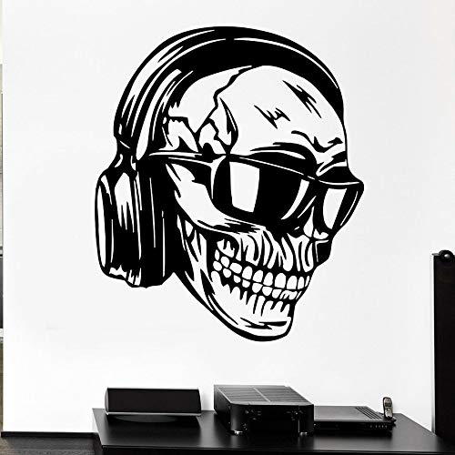 Tianpengyuanshuai Muurtattoo's hoofdtelefoon muziek coole decoratie rok pop slaapkamer woonkamer vinyl muursticker
