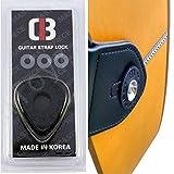 2 x par de cerraduras de correa de guitarra premium 4 piezas de goma para guitarra acústica eléctrica bajo