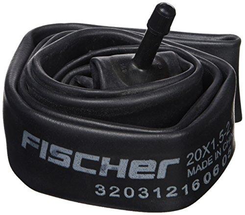 FISCHER Fahrradschlauch breit in 20 Zoll | ETRO-Norm: 40/57-406 | Dunlop Ventil, Auto Ventil