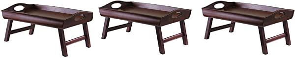 Winsome Wood 94725 Sedona Bed Tray Antique Walnut Pack Of 3