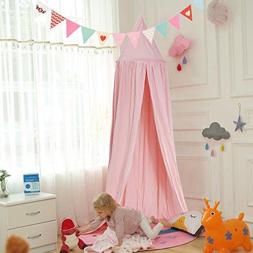 Yosoo Mosquitonetz/Zelt für Kinder, leicht Aufzuhängen, Baumwolle, für Kinder- und Spielziemmer, für Innen- und Außenbereich, 2,4 m hoch mit Traumfänger Dekoration