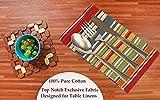 Ruvanti Tischtuch-Servietten, 6 Stück, 100 % Baumwolle, 45,7 x 45,7 cm, weiche und bequeme Baumwoll-Servietten. Mehrfarbige luxuriöse Leinenservietten für Weihnachten/Thanksgiving-Abendessen - 4
