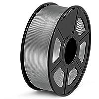 SUNLU PETG 3Dフィラメント1.75mm 1KG(2.2lb)、PETG 3Dプリンタフィラメント、寸法精度+/- 0.02mm、1kgスプール、1.75mm、グレーPETG