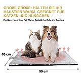 Toozey Couverture auto-chauffante pour chat et chien Taille 90 × 65 cm Tapis chauffant pour animaux domestiques Couverture pour chat
