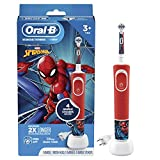Oral-B Kids Electric Toothbrush Featuring Marvel's Spiderman, for Kids 3+